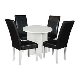 "Niche Mod 30"" Round Table & 4 Tyler Dining Chairs"