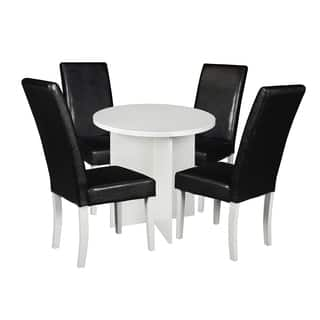 """Niche Mod 30"""" Round Table & 4 Tyler Dining Chairs