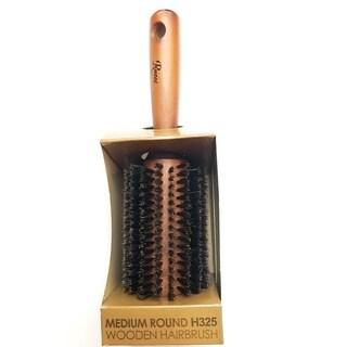 Rucci Medium Round Wooden Hair Brush