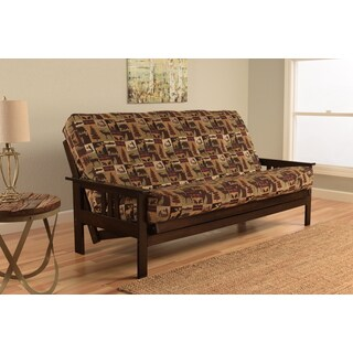 Somette Beli Mont Espresso Finish Futon Set With Fairbanks Evergreen Mattress