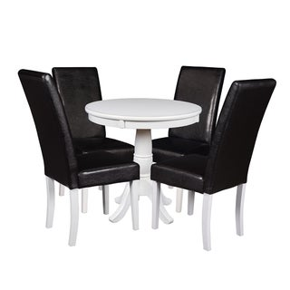 "Niche Mod 30"" Round Pedestal Table & 4 Tyler Dining Room Chairs"