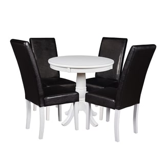 """Niche Mod 30"""" Round Pedestal Table & 4 Tyler Dining Room Chairs"""