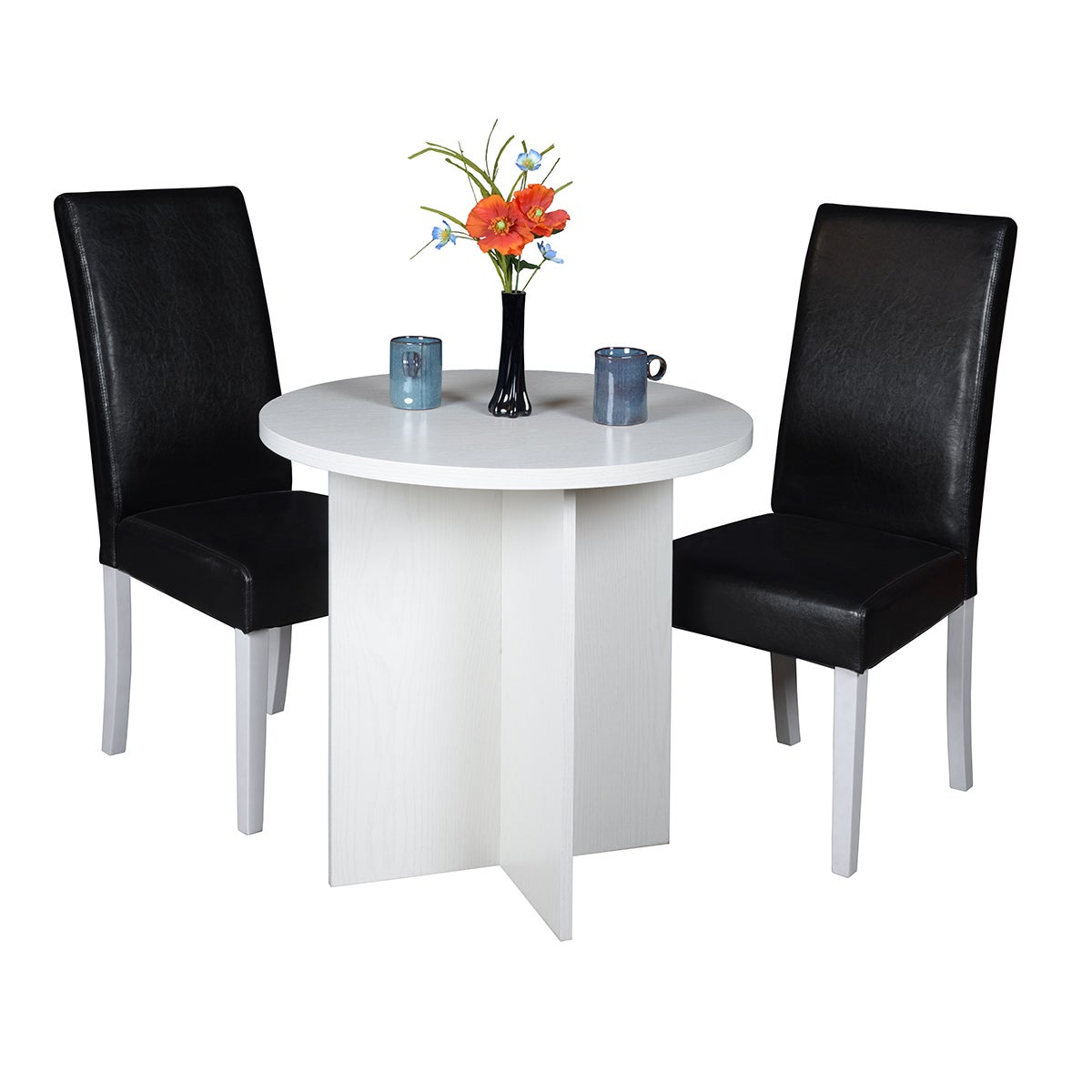 Regency Niche Modern 30-inch Round Table and 2 Tyler Dini...