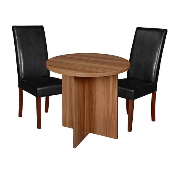 Astonishing Shop Regency Niche Modern 30 Inch Round Table And 2 Tyler Spiritservingveterans Wood Chair Design Ideas Spiritservingveteransorg