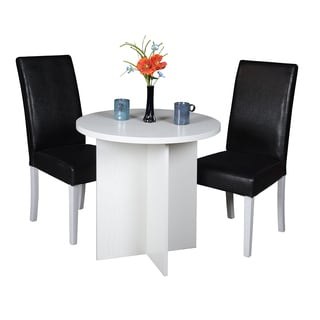 Regency Niche Modern 30-inch Round Table and 2 Tyler Dining Chairs Set