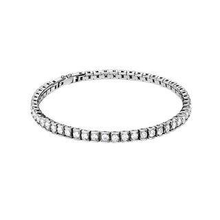 Calvin Klein Women's White Stainless Steel Cubic Zirconia Fashion Bracelet