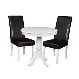 "Niche Mod 30"" Round Pedestal Table & 2 Tyler Dining Room Chairs"