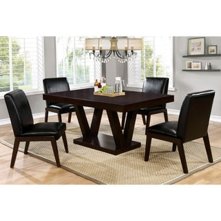 Furniture of America Marzhan Contemporary Bold Espresso 64-inch Dining Table