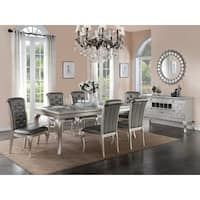 Bermington Silver Wood and Fabric Dining Chairs (Set of 6)
