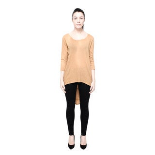 Bluberry Denim Women's Camel Asymetrical Top