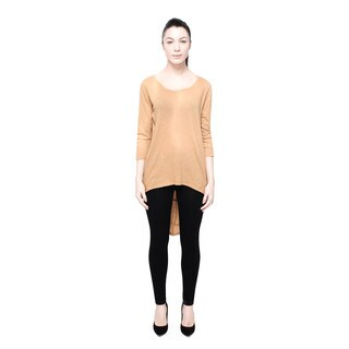 Bluberry Denim Women's Camel Asymmetrical Top