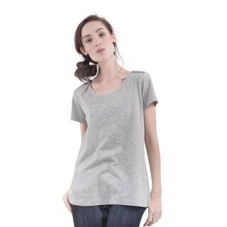 Bluberry Denim Women's Sequined Short-Sleeve Top