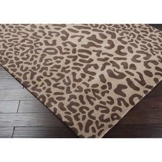 Hand-tufted Jungle Animal Print  Wool Rug (2' x 3')