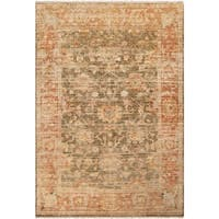 Hand-Knotted Pownal New Zealand Wool Area Rug - 7'9 x 9'9'
