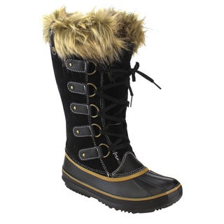 Via Pinky ED93 Women's Mid-calf Stitching Lace-up Duck Snow Boots