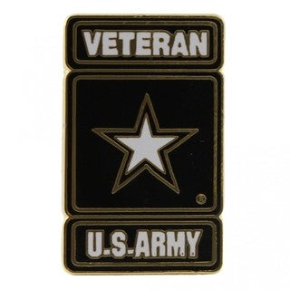 US Army Star Logo Veteran Pin