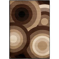 "SandyCircles Indoor Area Rug - 6'7"" x 9'6"""