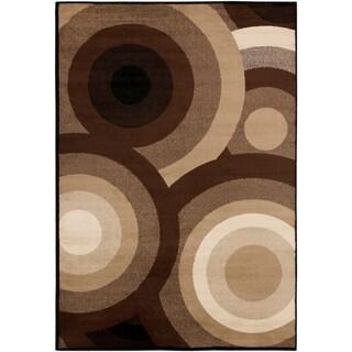 SandyCircles Indoor Area Rug - 6'7 x 9'6