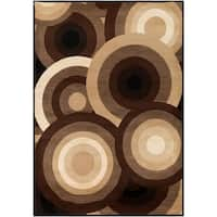 SandyCircles Indoor Area Rug - 9' x 12'9""