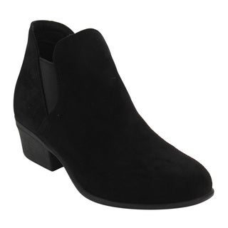 Top Moda EE13 Women's Chelsea Elastic Slip-on Chunky Ankle Booties