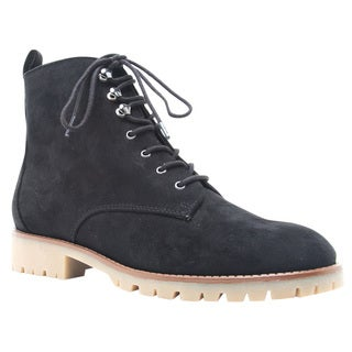 Qupid Women's FE55 Lace-up Military-style Low Block-heel Ankle Booties