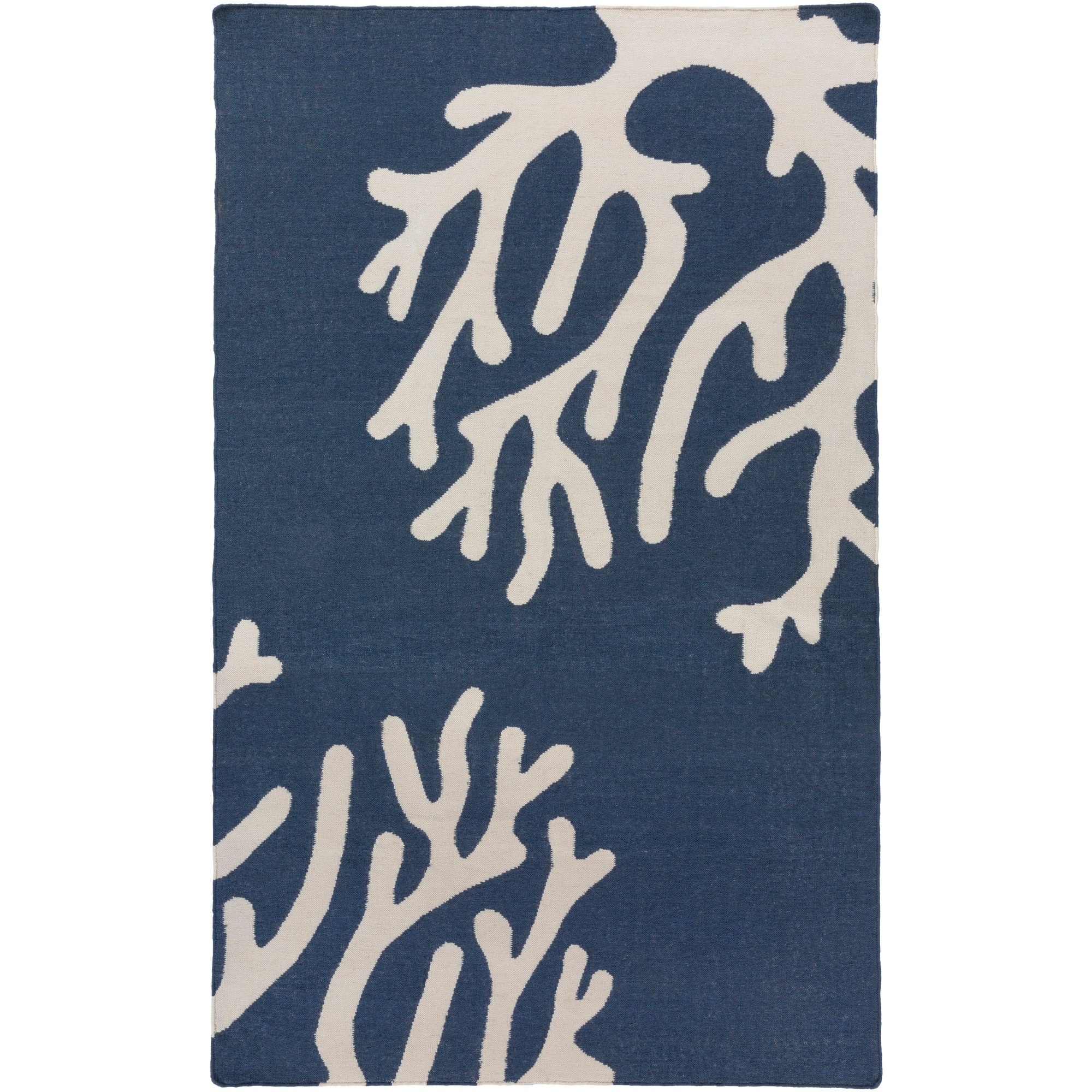 SURYA Hand-Woven Trappes PET Yarn Rug (3'6 x 5'6) (Navy (...