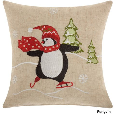 Mina Victory Home for the Holiday Throw Pillow by Nourison