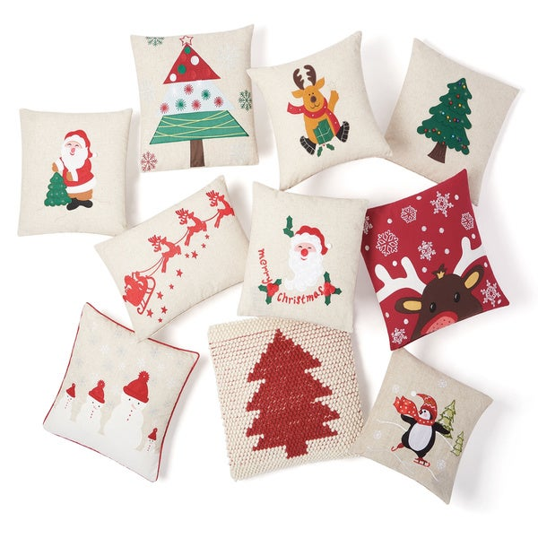 Mina Victory Home for the Holiday Throw Pillow by Nourison. Opens flyout.