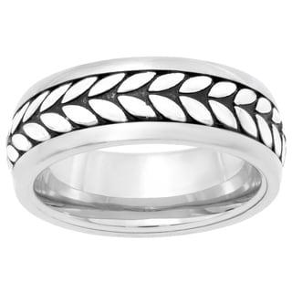 Stainless Steel Wheat Eternity Men's Ring