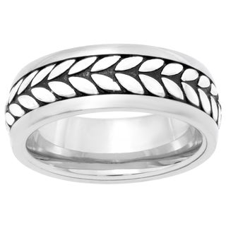 Stainless Steel Wheat Eternity Men's Ring