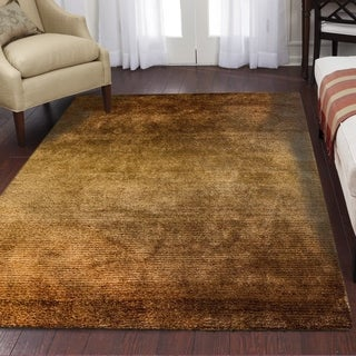 Ocean Bridge  Home Decor Collection  Offshore Mist Area Rug, Black/Brown - 5' x 8'