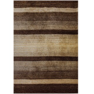 Samuel Brown Polyester Straight-woven Area Rug (5' x 7')