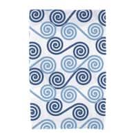E by Design Rip Curl Geometric Print Beach Towel