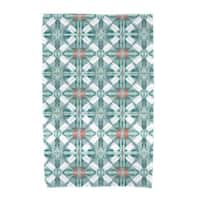 E by Design Beach Tile Geometric Print Beach Towel