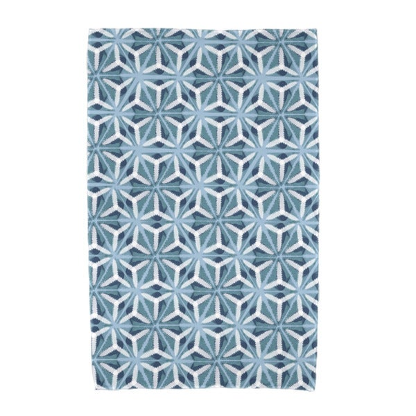 E by Design Water Mosaic Geometric Print Beach Towel