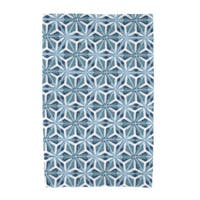 E by Design Water Mosaic Geometric Print Beach Towel