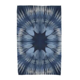 E by Design Shibori Burst Geometric Print Beach Towel