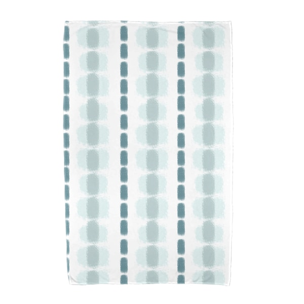 E by Design Watercolor Stripe Stripe Print Beach Towel