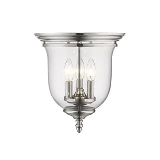 Livex Lighting Legacy Nickel Steel/Glass Ceiling Flushmount Light