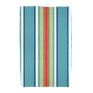 E by Design Multi-Stripe Stripe Print Beach Towel
