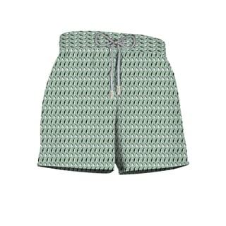 Artic Print Kids Green Polyester Shorts