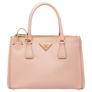 Prada Galleria Medium Peach Saffiano Leather Satchel Handbag
