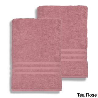 Authentic Hotel and Spa Omni Turkish Cotton Terry Oversized Bath Sheet Towels (Set of 2) (Option: Tea Rose)