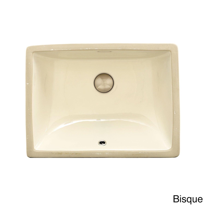 Vitreous China Clay 19 Inch X 15 Inch Rectangular Bathroom Sink