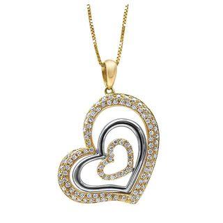 Noori 14k Gold 1/2ct TDW Diamond Heart Necklace Pendant