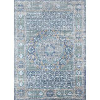 Machine-Made Melia Blue Polyester Rug (8' x 10')