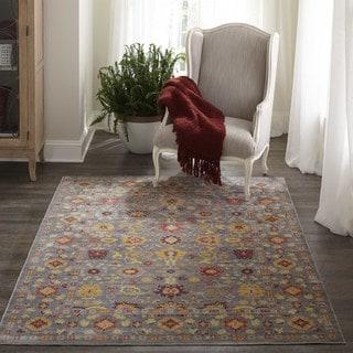 Fallon Grey Floral Area Rug (5' x 8')