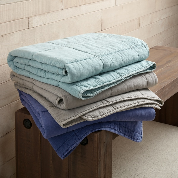 INK+IVY Casper Cotton Quilted Throw 3-Color Option