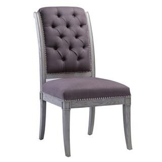 Addington Grey Linen Side Chair (Set of 2)
