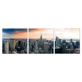 Furinno SeniA 'Empire State City View' 3-panel Wall-mounted Triptych Photography Prints